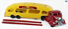 Vintage 1940 Restored LINE MAR MARX CO. Deluxe Auto Transport Trailer Truck Toy