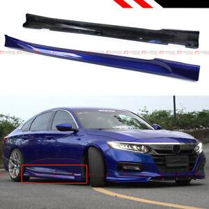 For 18-2021 Honda Accord Still Night Pearl Blue Add-on JDM Side Skirt Extensions