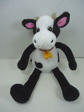"Old Navy Black and White Plush Cow 11"" NWT"