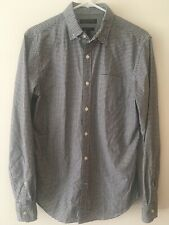 Banana Republic Grant Fit Sz S Black Gingham Dress Shirt