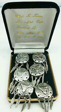 NEW BUTTON COVERS Silver INDIAN SHIELD w/ SKULL+FEATHERS Wedding Fancy Buttons