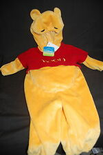 Walt Disney Pooh Costume 12M NWT Plush Halloween Soft Fleece One Piece Infant