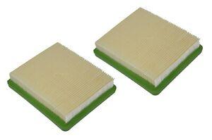 2X air filter fits Hyundai HYM 43P 43SP 46SP 51SP 460SPE 510SPE 200548 lawnmower