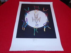 "[ Coll. R-JEAN MOULIN Art 20th ] Guy Kayser (Fr) Screen Printing "" Olympics """
