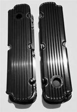 SB Ford Raised Finned FABRICATED Black Aluminum Tall Valve Covers SBF 289 302