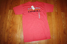 NWT Mens O'NEILL Heathered Red Crew Neck Convoy Fit S/S T-Shirt Size S Small
