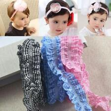 "3 Colors 1yards x 1"" Elastic Gingham Ruffle Ribbon For Garment Headdress DIY"