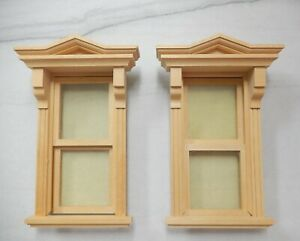 2 Vintage Victorian Working Windows Dollhouse Miniature 1:12    lot2