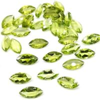 Wholesale Lot 5x2.5mm & 6x3mm Marquise Cut Natural Peridot Loose Calibrated Gems