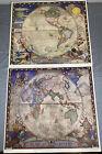 2 Rare N.C. WYETH 1928 Eastern & Western Hemisphere Prints, NAT GEO Society