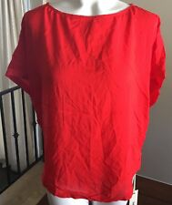 Diesel T-Opuntia-B Tank Top Red Lace-Up Back Womens Small $158 New dsh