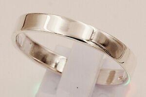 massiv Sterling Silber 925 Ring Freundschaft Verlobung 4 mm breit Trauring