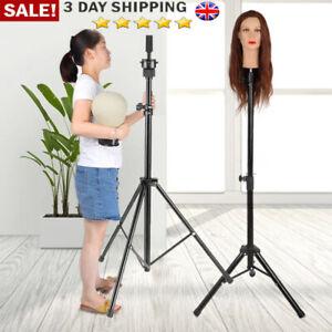 Adjustable Wig Head Stand Mannequin Tripod Holder for Hairdressing Training &Bag