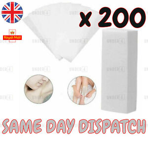200 Depilatory Wax Paper Waxing Strips Non Woven Legs Body Hair Removal UK NEW