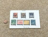7 x Hawaii Akahi Keneta Elua Keneta 1c 2c Postage Stamps USED