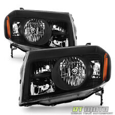 For Black 2009 2010 2011 Honda Pilot Headlights Headlamps Left+Right Aftermarket