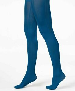 HUE Tights Variegated Stripe Control Top Catalina Blue Size S/M $15 - NWT