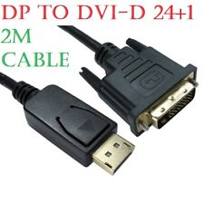 2m DisplayPort Display Port DP to DVI-D 24+1 Male Digital Video Cable Lead PC TV