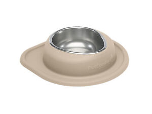 Single Low Pet Feeding System by WeatherTech for Dog/ Cat in Tan