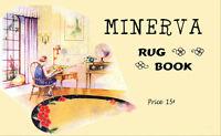 Minerva Color Rug Making Book c.1929 Vintage Designs And Tips to Make Rugs