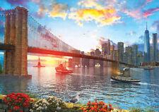 Puzzle Sonnenuntergang in New York, 1000 Teile, Manhattan, Brooklyn, Art Puzzle
