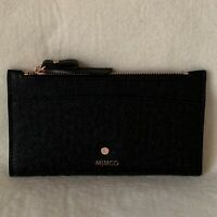 FREE POST MIMCO BLACK ROSE GOLD SUBLIME SLIM WALLET Matte Saffiano Leather AUD89