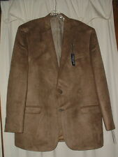 Men's Chaps Faux Suede Sport Coat Size 46Long NWT