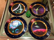 1997 Star Trek Hamilton Collector Plate Ships in Motion Series set of 4 Ec