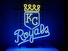 "New Kansas City Royals Neon Light Sign 17""x14"" Real Glass Bar Beer Artwork Decor"