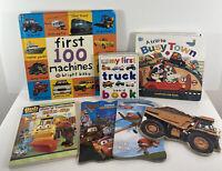 Trucks Cars Vehicles Board Book Lot Of 7 Preschool Daycare Childrens Books