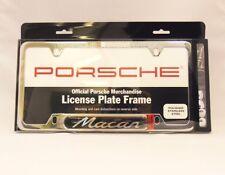 Porsche Macan Polished License Plate Frame OEM 95B Genuine Porsche Part