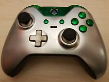 Customised Official Xbox One Elite Controller - Green & Metal Grey Edition -