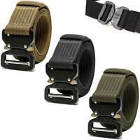 Unisex Tactical Belt Quick-Release Military Combat Nylon Waist Belt Metal Buckle