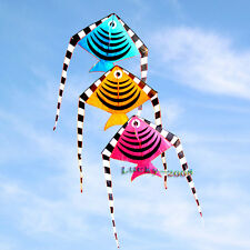 74 in Small Fish Kite Single Line Children Toys Outdoor fun Sports for kids