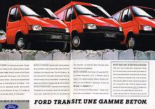 PUBLICITE ADVERTISING 124  1987  FORD TRANSIT   les utilitaires GAMME BETON ( 2p
