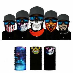 1 Face Mask Sun Shield Neck Gaiter Balaclava Neckerchief Bandana Headband