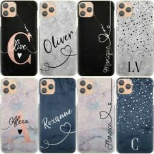 Initial Phone Case, Personalised Name, Blue Marble Hard Cover For Samsung S