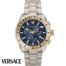 Versace VERG00618 Casual Chrono blau roségold Edelstahl Armband Uhr Herren NEU