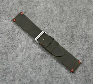 Leather watch band brown, Brutal style mens Handmade vintage strap 20 22 24 26mm