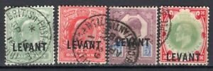 LEVANT GB POST OFFICE ABROAD 1905 STAMP Sc. # 15/6, 22 AND 24 USED
