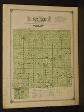 Minnesota Fillmore County Map 1915 Sumner Township W3#44