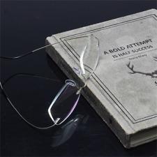 Titanium Rimless Reading Glasses Blue Light Blocking Readers Presbyopia Eyewear