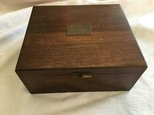 Antique 1927 WALNUT DOVE TAILED WOOD SEWING BOX Award for sewing plaque