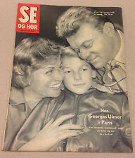 GEORGES ULMER IN PARIS PHOTOS DENMARK FRONT COVER VINTAGE Danish Magazine 1955