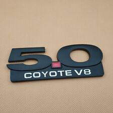 Metal Matte Black 5.0 COYOTE V8 Logo Badge Sport Car Trunk Emblem Sticker Decal