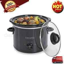 Crock-Pot 3qt Crock Pot Slow Cooker Tempered Glass Small Kitchen Appliance Black