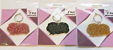 Glitter acrylic Guinea Pig keyring/bag charm - 9 colour choices.