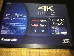 Panasonic smart network 3d/blue ray/dvd 4k never used