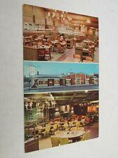 F118 Postcard Bishop Buffet Washington Square Peoria IL Illinois restaurant