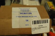 "Conco Systems, Hcb1120, 1"" x 20 Brass Hc-Plug, High Confidence, Box of 14, New"